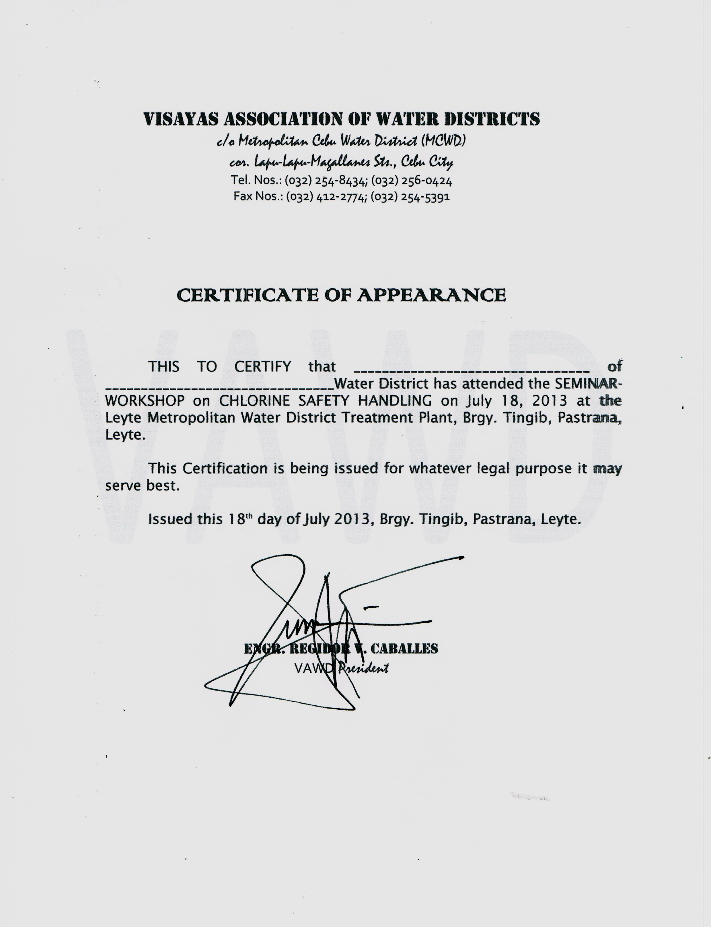 Sample certificate of appearance template image collections other gallery of sample certificate of appearance template yelopaper Choice Image